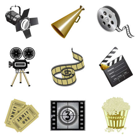 Movie industry icons Stock Vector - 5763607