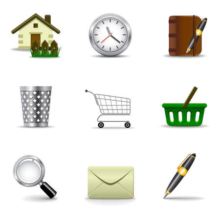 Web icons Stock Vector - 5763598