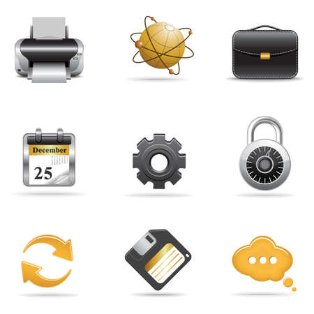 briefcase icon: Conjunto de iconos de Web 2 Vectores