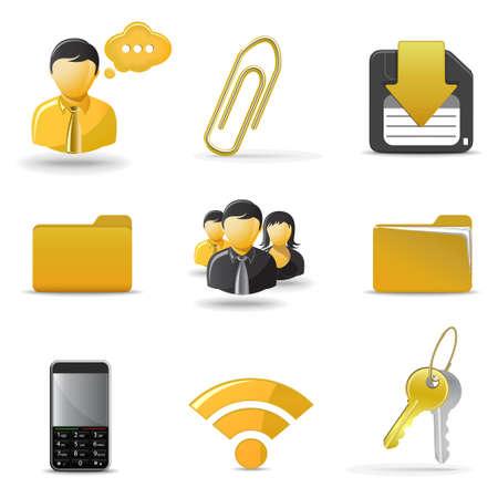 inbox icon: Web icons set 4