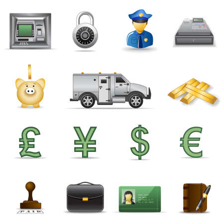 Finance and banking icons. Part3 Stock Vector - 6029535