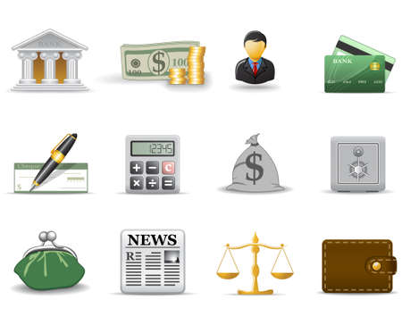 Finance and banking icons. Part 1 Stock Vector - 6029532