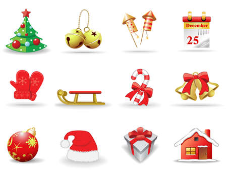 Christmas icons, part 1 Stock Vector - 6029536