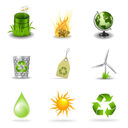 Eco icons, part  1 Vector