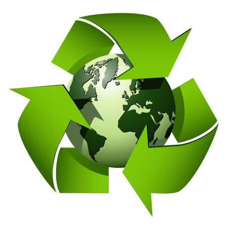 Recycle globe icon Vector