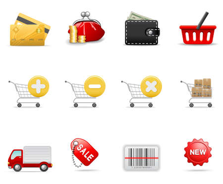 Shopping icons, part 2 Stock Vector - 6075389