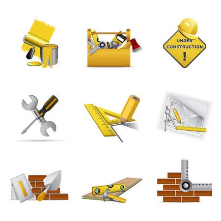 Construction tools, part 1 Illustration