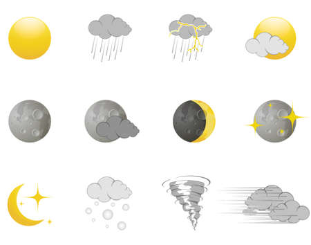 twister: Weather icons Illustration
