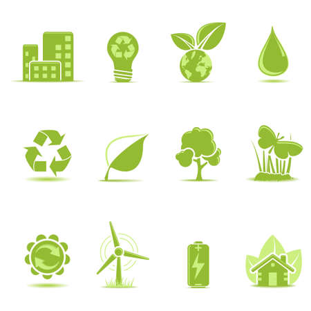 Ecology icons set Stock Vector - 6113240
