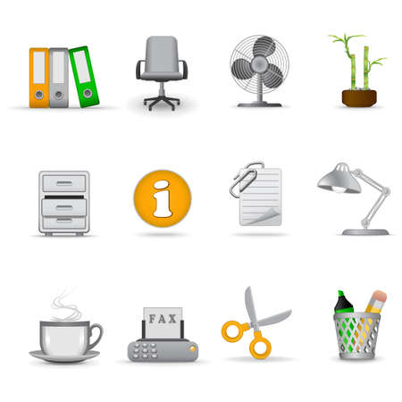 Office icons, part 1 | Joy series Stock Vector - 6139840