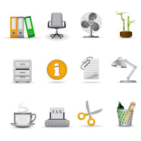 sedia ufficio: Ufficio icone, parte 1 | Joy serie  Vettoriali