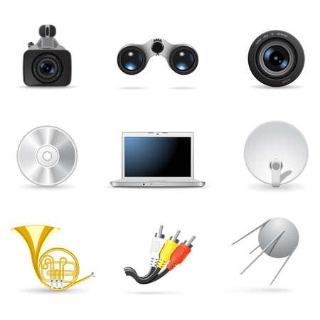 netbooks: Media and music icons 4 Illustration