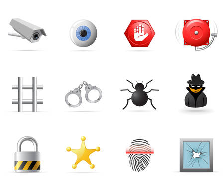 Security icons part 1 Stock Vector - 6188678