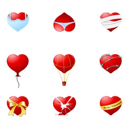 Love hearts 1 Vector