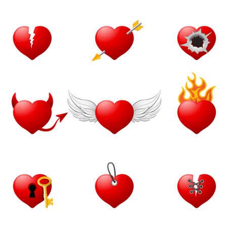Love hearts 2 Vector