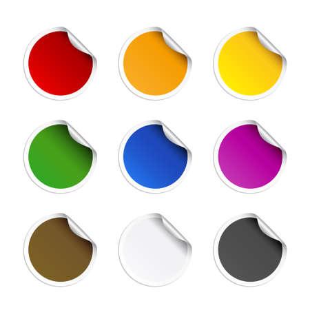 Round stickers Stock Vector - 6242183