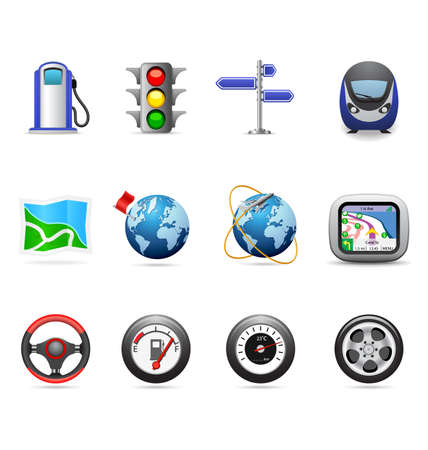 Road icons Stock Vector - 6285572