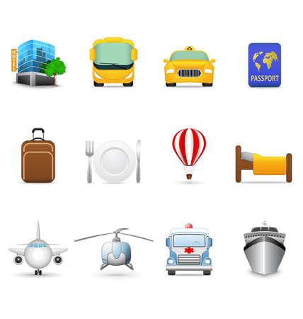Travel and transportation icons Illustration