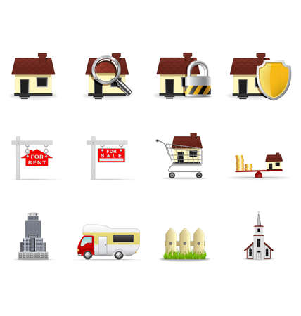 Real estate icons, part 1 Stock Vector - 6332612