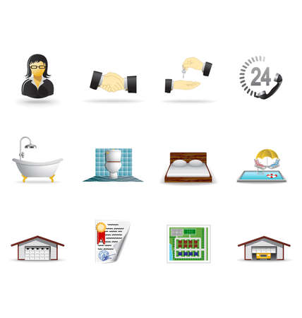 Real estate icons, part 2 Stock Vector - 6332611