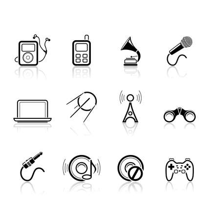 Media and music icons | Simple series, part 2 Stock Vector - 6332614