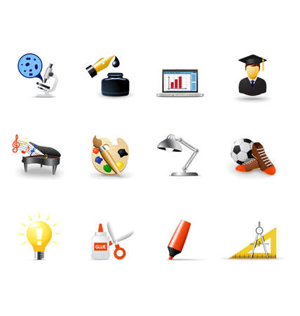 School icons, part 2 Stock Vector - 6412507