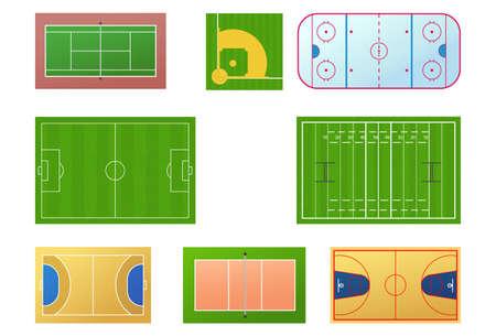 courts: Sport fields Illustration