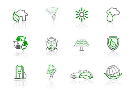 Ecology and environmental icons | Simple series, part 2 Vector