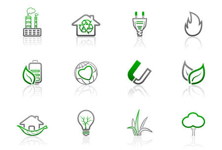 Ecology and environmental icons | Simple series, part 1 Illustration