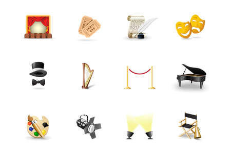 Theater icons Stock Vector - 6452853