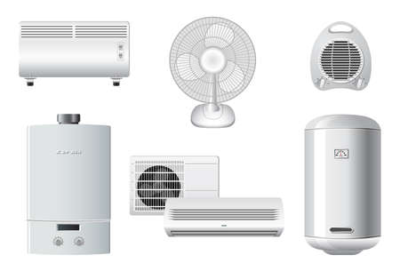 Household appliances | Heating and air conditioning Vector