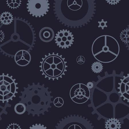 Seamless gear pattern Vector