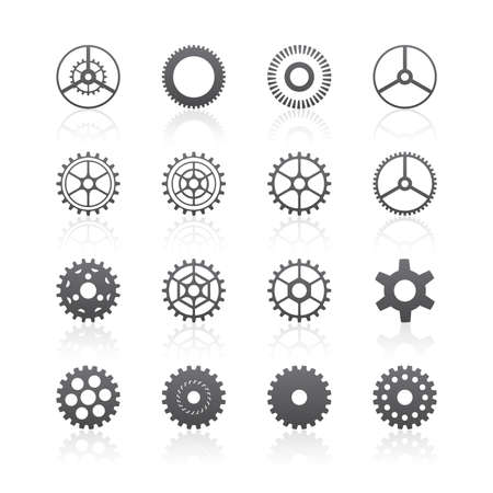 spinning wheel: Gear icons