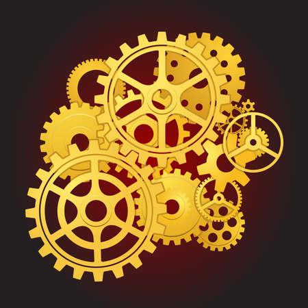 Engranajes en movimiento Ilustración de vector