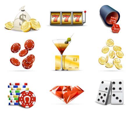 Casino and gambling iicons, part 2 Vector