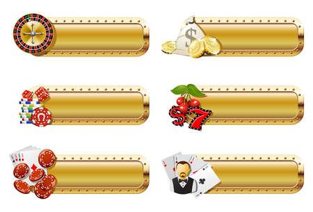 gambling chip: Banners de Casino y juegos de azar  Vectores