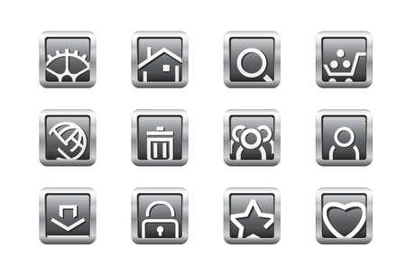 Web buttons Stock Vector - 6685588