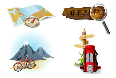 trip travel: Camping icons