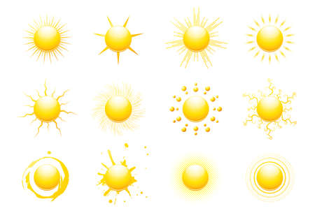 Sun icons Stock Vector - 6975149