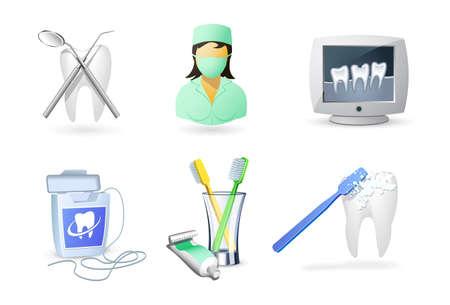 dentista: Conjunto de iconos m�dica   odontolog�a