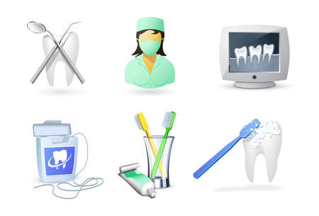 dental nurse: Medical icons set | Dentistry
