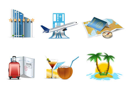 Vacantion and travel icons Stock Vector - 7090415
