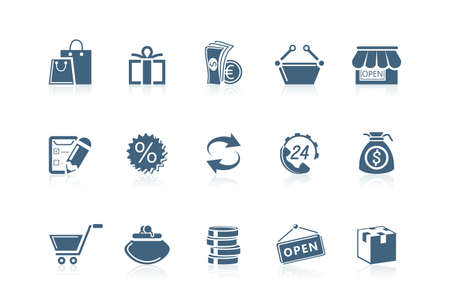 Shopping icons | Piccolo series Vector