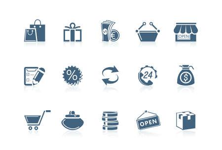 Shopping icons | Piccolo series Stock Vector - 7259113