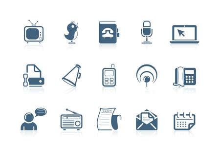 contact book: Iconos de comunicaciones | serie Piccolo  Vectores