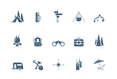 outdoor: Camping icons | piccolo series