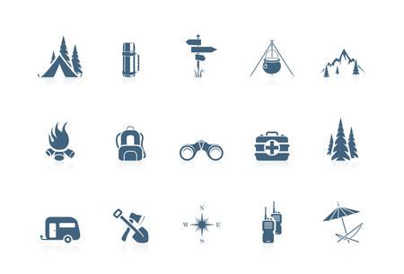 Icone campeggio   serie ottavino
