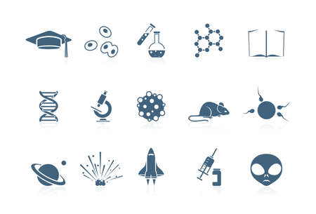 Science icons | piccolo series Stock Vector - 7359800