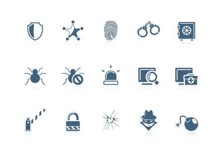 burglar alarm: Security icons | piccolo series Illustration