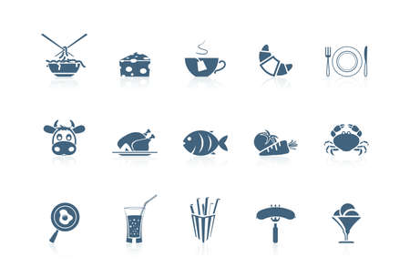 fish icon: Food icons | piccolo series, part 2 Illustration